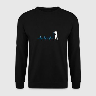MC rapping heartbeat microphone gift heartbeat - Men's Sweatshirt