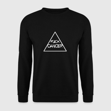 FUCK CANCER TRIANGLE RIBBON KAMP AGAINST CANCER - Men's Sweatshirt