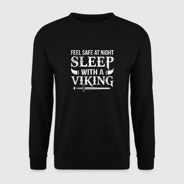 Sleep with a Viking feel safe at night - Men's Sweatshirt