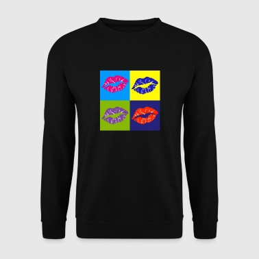 pop art lip - Men's Sweatshirt