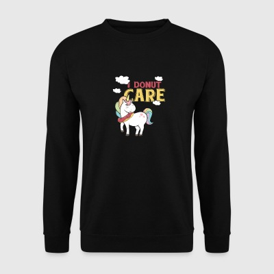 Je Donut soin Licorne poney arc-en-cadeau - Sweat-shirt Homme