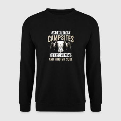 Campsites To Lose My Mind And Find My Soul Shirt - Männer Pullover