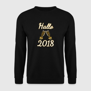 Hallo 2018 Silvester Happy new Year Shirt Neujahr - Männer Pullover