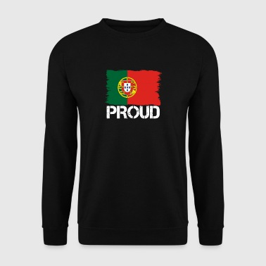 Pride flag flag home origin PORTUGAL portuge - Men's Sweatshirt