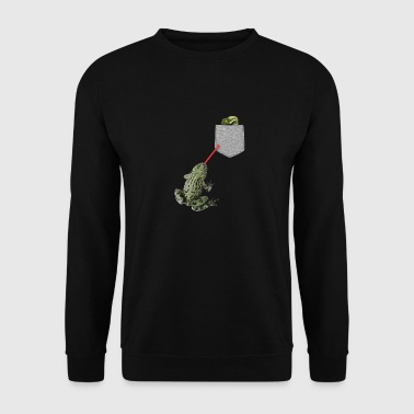 Frog Tongue Reaching For Tadpole In Your Fake - Men's Sweatshirt