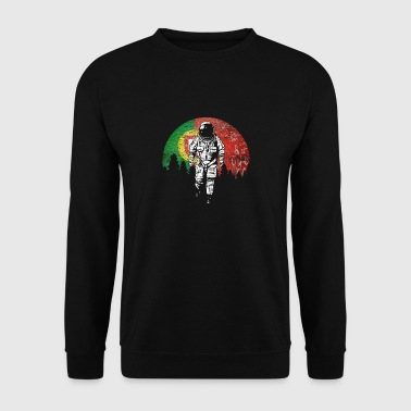Astronaut Portugal flag månen gave - Herre sweater