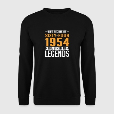 1954 64 64th birthday years Legends gift - Men's Sweatshirt