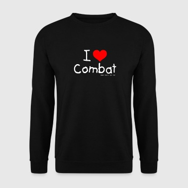 I Love Combat - White Font - Men's Sweatshirt