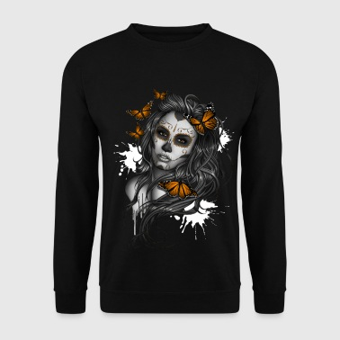 Day of the Dead Sugar Skull Girl - Sweat-shirt Homme