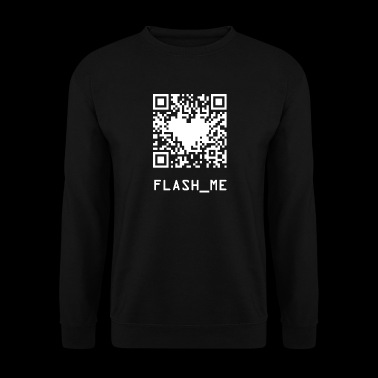 qrcode wite - Sweat-shirt Homme