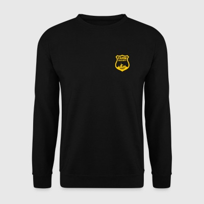 Farm Security guard, ranch small gold badge shield - Men's Sweatshirt