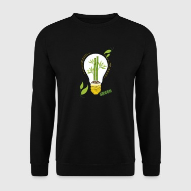 green light bulb - Men's Sweatshirt
