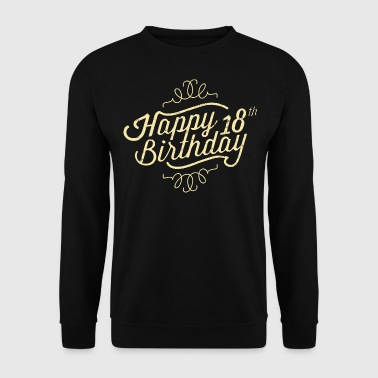 Happy 18 Birthday retro T-Shirts - Männer Pullover
