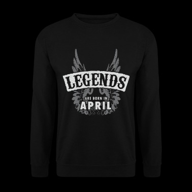 Legends are born in April - Men's Sweatshirt