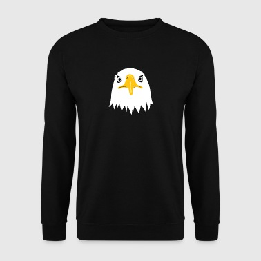 bald eagle head eyes beak - Men's Sweatshirt
