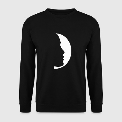 profil de la lune - Sweat-shirt Homme