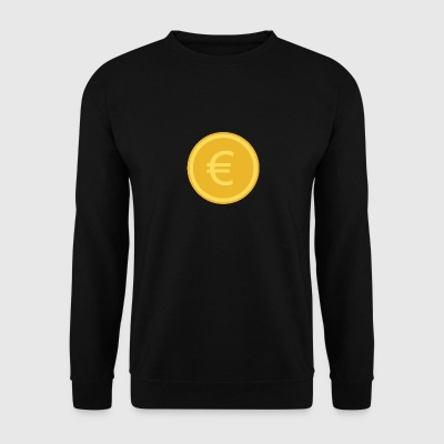 euro coin - Sweat-shirt Homme