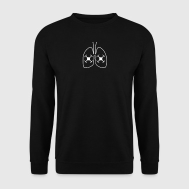 lungs lunge drohne drone fly control - Männer Pullover
