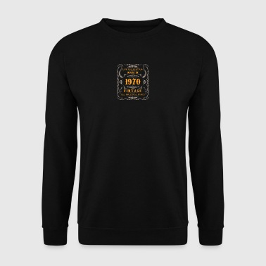 1970 birthday vintage - Men's Sweatshirt