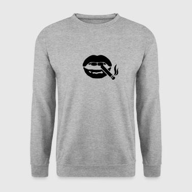 icone bouche fume cigarette clope bec - Sweat-shirt Homme