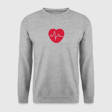 coeur trace cardiaque 1503 - Sweat-shirt Homme
