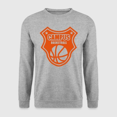 basketball campus logo fanion ecusson - Sweat-shirt Homme