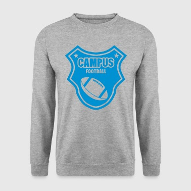 football campus logo fanion ecusson - Sweat-shirt Homme
