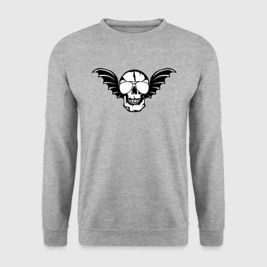 Wing bald skull bat 0 - Men's Sweatshirt