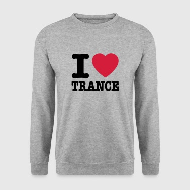 I love trance / I heart trance - Herre sweater
