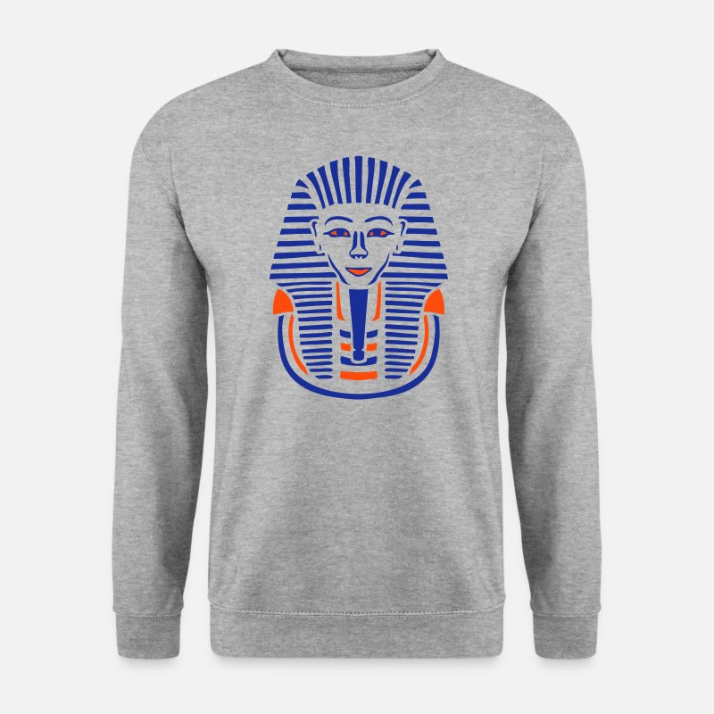 Pharaon Sweat-shirts - toutankhamon roi egypte pharaon 1 - Sweat-shirt Homme gris chiné