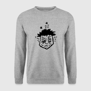 personnage tete fatigue1 cul - Sweat-shirt Homme