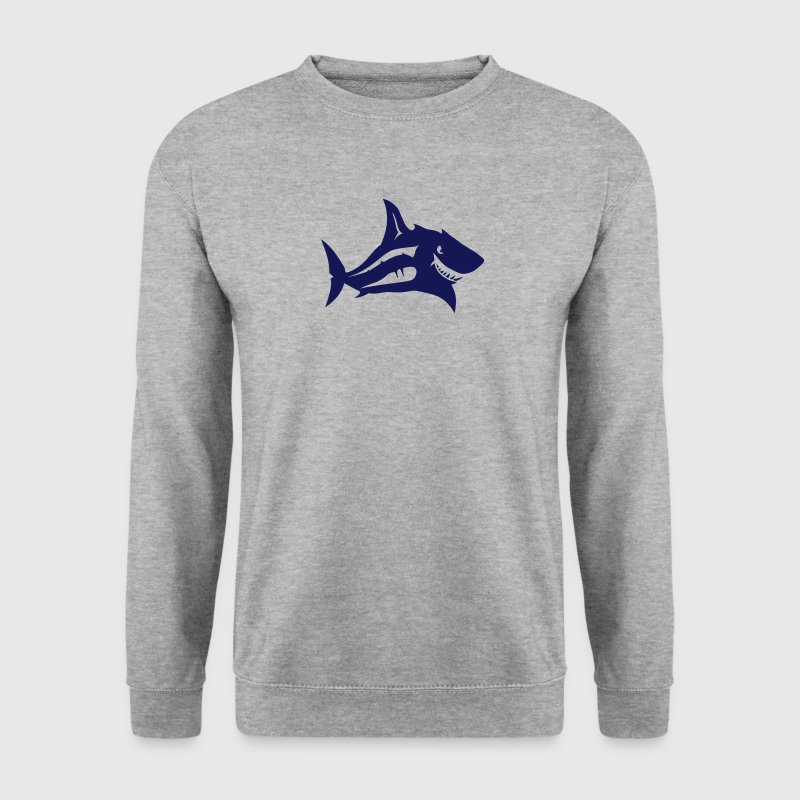 requin tete animal 7092 - Sweat-shirt Homme