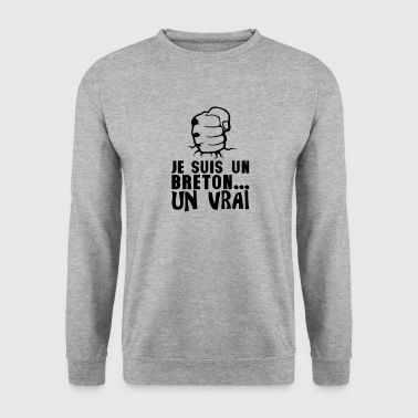 breton vrai poing frappe ferme citation - Sweat-shirt Homme