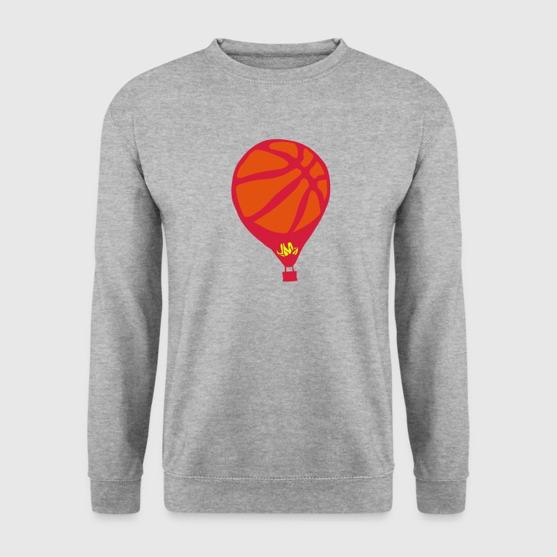 montgolfiere basketball ballon flamme - Sweat-shirt Homme