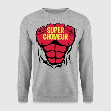chomeur super corps muscle bodybuilding - Sweat-shirt Homme