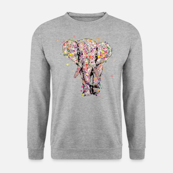 Elephant Sweat-shirts - Elephant - Sweat-shirt Homme gris chiné