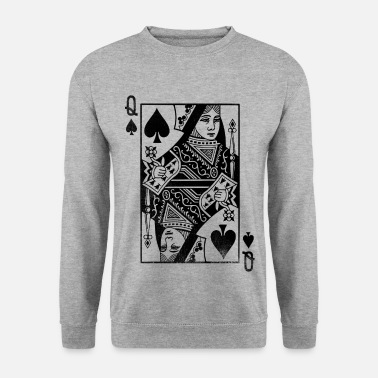 Playing Queen of Spades playing card - Men's Sweatshirt