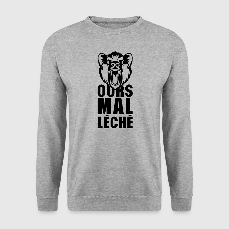 ours mal leche expression citation 0 - Sweat-shirt Homme