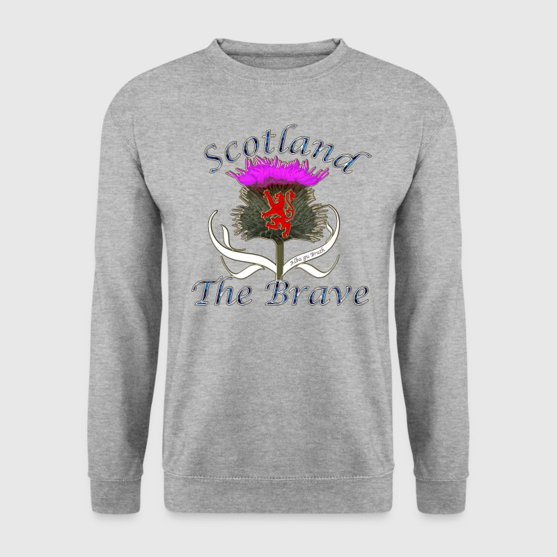 scotland the brave thistle lion design - Men's Sweatshirt
