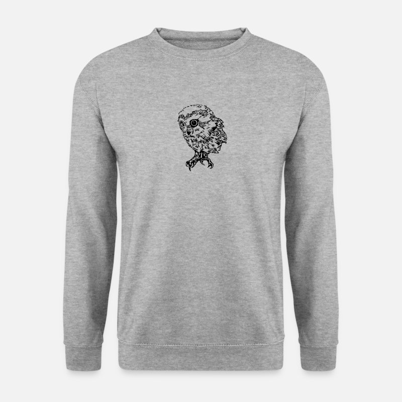 Chouette Sweat-shirts - Chouette - Sweat-shirt Homme gris chiné