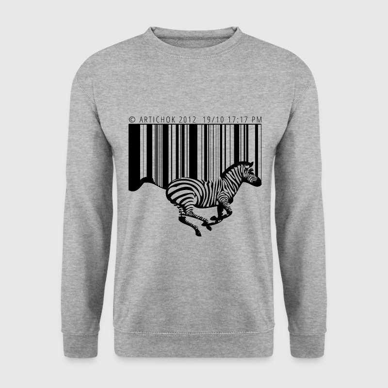 zebre code barre - Sweat-shirt Homme