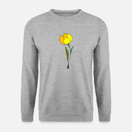Occasion Sweat-shirts - tulipe - Sweat-shirt Homme gris chiné