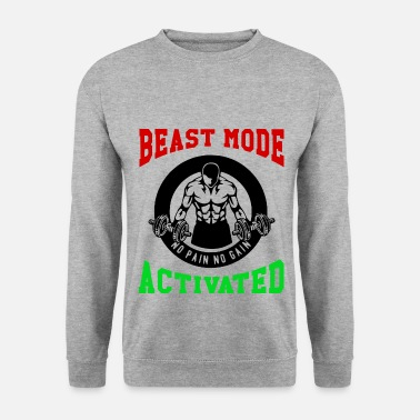 Biest Beast Mode Activated 1- Bodybuilder Fitness Gym - Men's Sweatshirt