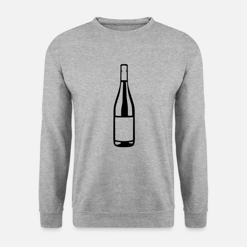 Bouteille Sweat-shirts - bouteille vin alcool icone 2808 - Sweat-shirt Homme gris chiné