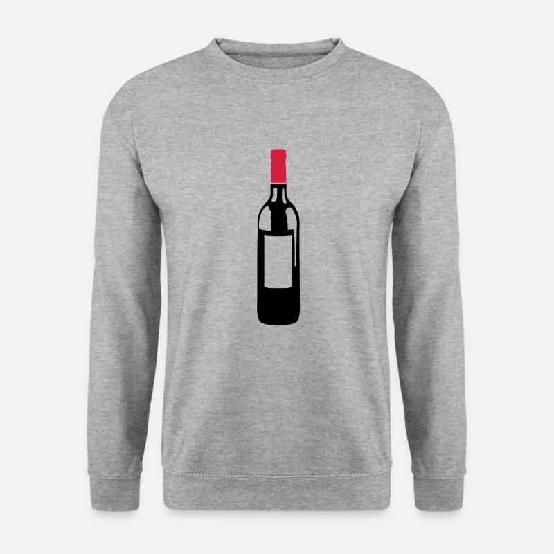 Vin Sweat-shirts - bouteille vin rouge pinard 6032 - Sweat-shirt Homme gris chiné
