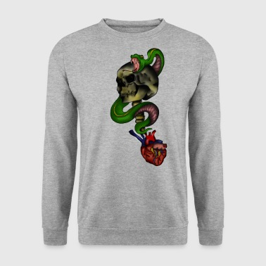 Coeur de serpent de crâne - Sweat-shirt Homme