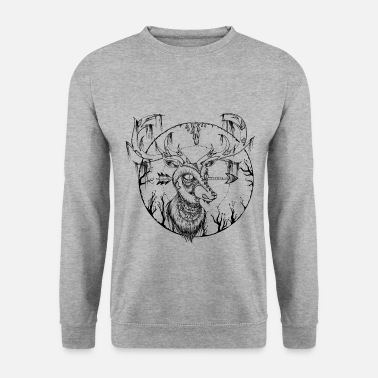Spreadshirtlikes Zombie Hirsch - Sweat-shirt Homme