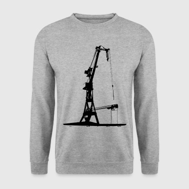 Harbour Crane shipyard shipbuilding dock Hamburg - Men's Sweatshirt
