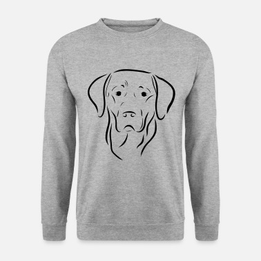 Labrador dog head drawing dog dog love art - Men's Sweatshirt