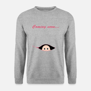 Pregnancy T-shirt baby pregnancy saying gift idea - Men's Sweatshirt